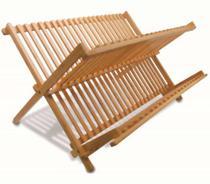Escorredor De Pratos Dobrável Em Bambu - Tyft
