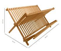 Escorredor De Pratos E Louças Abre E Fecha Em Bambu Pratos - Yoi