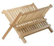 Escorredor De Pratos Em Bambu Ecokitchen Mimo Style Bm19127 -