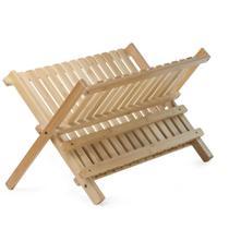 Escorredor de pratos feito de bambu para 12 pratos - Mimo Ltda
