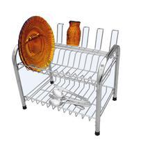 Escorredor de pratos para 24 pratos 7 copos e talheres em aço cromado Berço Desmontável - Csk