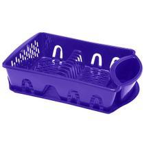 Escorredor de pratos paramount roxo c/ bandeja - 414 -