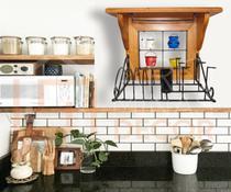 Escorredor De Pratos Rústico com Suporte para Panela Para Cozinha Imperdível - Arq Minas Decor
