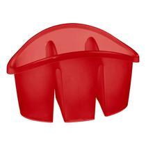 Escorredor de Talheres com Divisórias em Plástico Vermelho Sanremo -