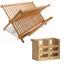 Escorredor De Talheres E Pratos De Bambu Bancada Orgânico - Yoi