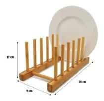 Escorredor Ecológico Sustentável de Bambu 6 Pratos - Fwb