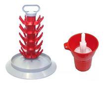 Escorredor Fixo Para 45 Garrafas + Lavador Sanitizador Spin - Ferrari