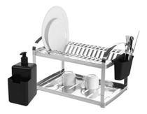 Escorredor louça inox 16 pratos com dispenser suprema brinox -