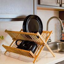 Escorredor Louças 16 Pratos e Copos - Bambu Natural Original - Dolce Home