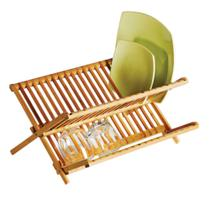 Escorredor Louças Pratos Bambu Cozinha Dobrável Welf -