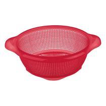 Escorredor para Salada em Plástico Vermelho Sanremo -