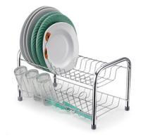Escorredor Pratos Berço Metal c/ Porta Copos Cromado 40x26 - 107516 - Arthi