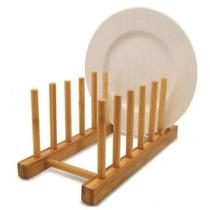 Escorredor Rústico De Bambu Porta 6 Pratos Copos - Wincy