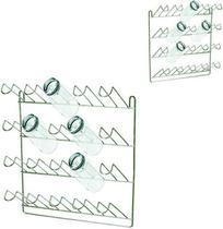 Escorredor / secador de copos de parede aramado para 20 copos 36x32x12cm -