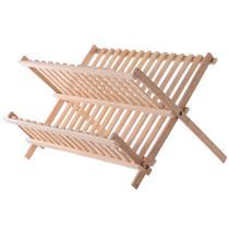 Escorredor / secador de pratos / copos de bambu dobravel 43x34cm - Emporiente