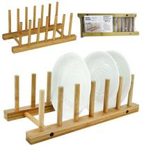 Escorredor / secador de pratos de bambu 28x12,5x9cm - Fwb