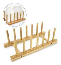 Escorredor / Secador De Pratos De Bambu Para 6 Pratos 28x12x - Oem