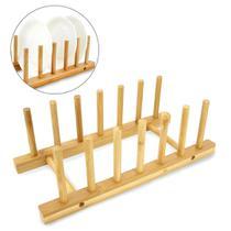 Escorredor Secador de Pratos em Bambu - Clink