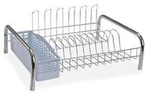 Escorredor secador Estilo Com porta Talher E Copo Branco N3974 - Niquelart