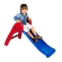 Escorregador Baby Divertido - Escada Vermelha e Rampa Azul - Lacuca Brinquedos