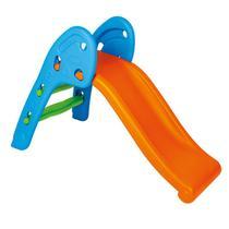 Escorregador Infantil Laranja E Azul Homeplay -