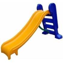 Escorregador infantil  médio 3 degraus amarelo e azul Natalplast -