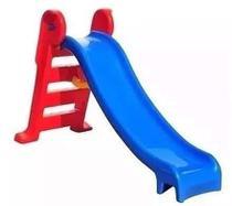 Escorregador infantil médio 3 degraus vermelho c/azul - Natalplast