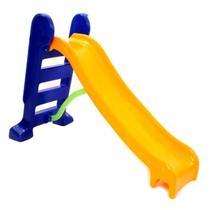Escorregador infantil médio  Amarelo com Azul - Multyplastic