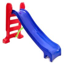 Escorregador infantil médio Azul com Vermelho - Multyplastic