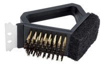 Escova De Aço Para Limpar Grelha Churrasqueira Com Espátula - Hudson