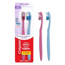 Escova de Dente Colgate Gengiva Comfort com 2 unidades -