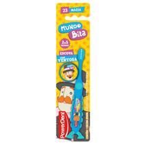 Escova de Dentes Mundo Bita com Protetor de Cerdas Powerdent - Expressabr Distribuidora Logistica Ltda