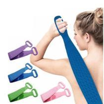 Escova de Silicone Esponja Banho Bucha Massageador Esfoliante Corporal Costas Pés Corpo Limpeza -