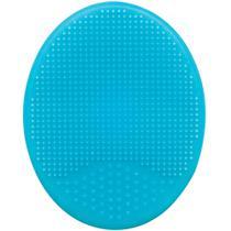 Escova de Silicone Para Banho Pra Bebês - Azul Buba -
