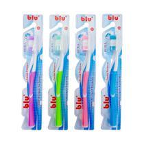Escova dental adulto dura blu pacote com 12 unidades - blu - Dagia