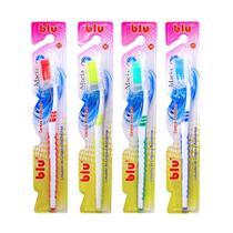 Escova dental adulto macia blu pacote com 12 unidades - blu - Dagia