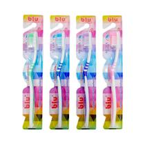 Escova dental adulto média blu pacote com 12 unidades - blu - Dagia
