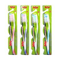 Escova dental adulto média blu pacote com 12 unidades - - Dagia