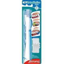 Escova Dental Bitufo Ortodôntico Cônico com -