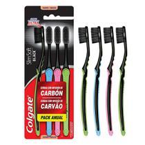 Escova Dental Colgate Slim Soft Black 4 unidades -