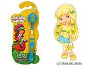 Escova Dental Infantil Capa Protetora Turma da Moranguinho - Gotinha de Limão - Frescor