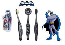 Escova dental Infantil Cerdas Macias com Capa Protetora DC Super Friends - Batman - Art Brink