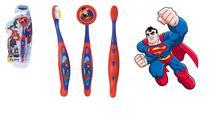 Escova dental Infantil Cerdas Macias com Capa Protetora DC Super Friends - Superman - Art Brink