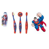 Escova Dental Infantil Cerdas Macias Com Capa Protetora Dc Super Friends - Superman - At Brink
