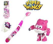 Escova dental Infantil Cerdas Macias com Capa Protetora Super Wings - Dizzy - Frescor
