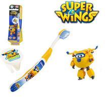 Escova dental Infantil Cerdas Macias com Capa Protetora Super Wings - Donnie - Frescor