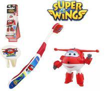 Escova dental Infantil Cerdas Macias com Capa Protetora Super Wings - Jett - Frescor