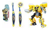 Escova dental Infantil Cerdas Macias com Capa Protetora Transformers - Bumblebee - Art Brink