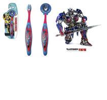 Escova dental Infantil Cerdas Macias com Capa Protetora Transformers - Optimus Prime - Art Brink