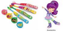 Escova dental Infantil Cerdas Macias com Capa Protetora Turma da Moranguinho - Ameixinha - Frescor